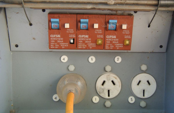 Elektrická prípojka v kempe