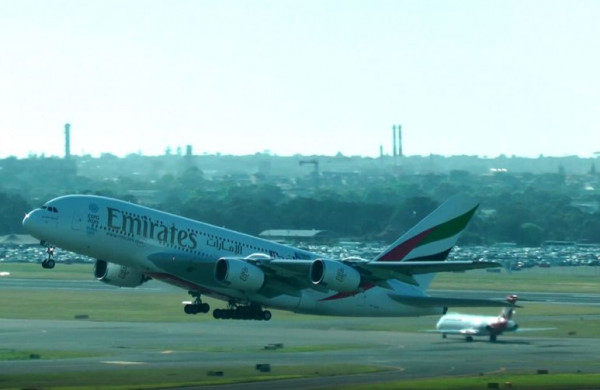 A 380 - štartujeme v Sydney na cestu domov