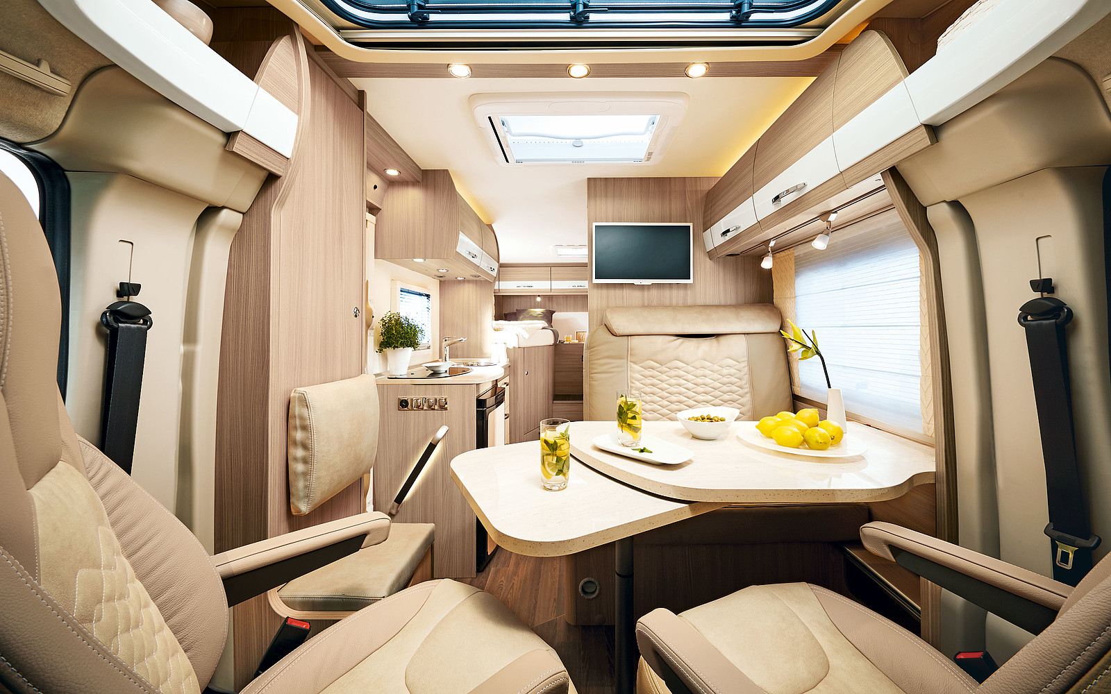 Obývací priestor v Travel Van