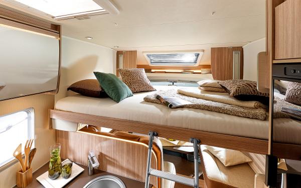 Sťahovacia posteľ v obytnej časti