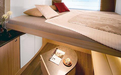 Prídavné spiace lôžko nad obývacou časťou