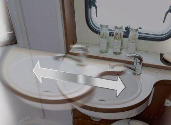 Posuvné umývadlo