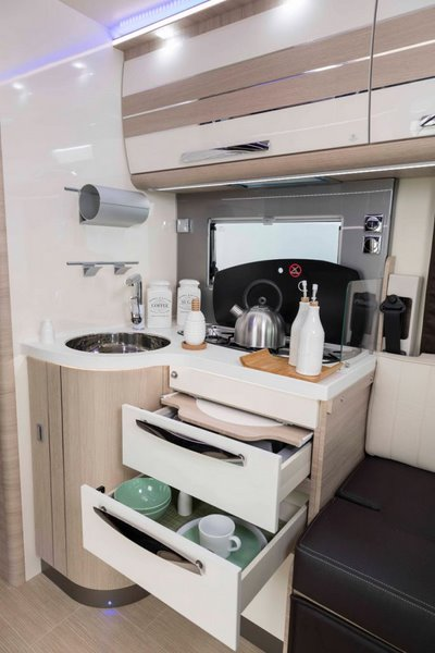 kuchyňa K-Yacht 90 Tekno Line (drevo Cappuccino)